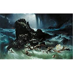 Oil Painting 'Francis Danby - The Deluge,1840', 18 x 29 inch / 46 x 73 cm , on High Definition HD canvas prints is for Gifts And Bar, Garage And Study Room Decoration, where to get