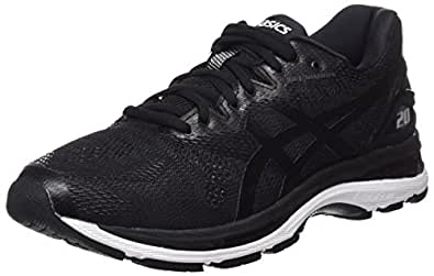 Asics Men's Gel-Nimbus 20 Road Running Shoes, Black (Black/White/Carbon),10 US,44 EU
