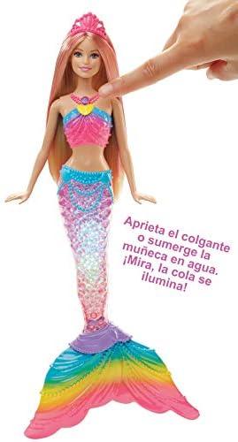 Amazon.es: Barbie Dreamtopia, muñeca Sirena Luces de Arcoíris, regalo para niñas y niños 3-9 años (Mattel DHC40), color/modelo surtido: Juguetes y juegos