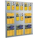 Helit H6811002 Prospekthalter Wandset Placativ 6 Taschen 1//3 DIN A4 hoch glaskl