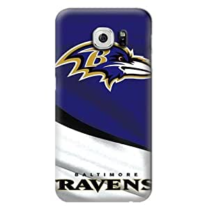 NFL Hard Case For Samsung Galaxy S6,Baltimore Ravens Design Protective Phone S6 Covers,Fashion Samsung Cell Case