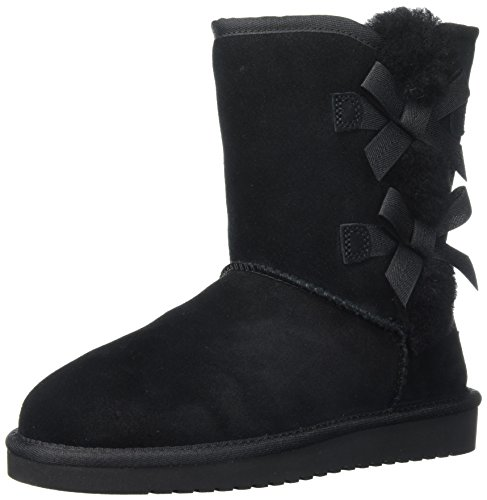 Koolaburra by UGG Women's Victoria Short Fashion Boot, Black/Black/Black, 09 M (Faux Ugg Boots)