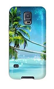 Galaxy High Quality Tpu Case/ Dream Beach Case Cover For Galaxy S5