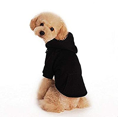 TOPSOSO Fashion Shop Pet Coat Polyester/Cotton Basic Dog Hoodie?Dog Jacket,Dog Fleece for Young Dog and Large Dog,6 Sizes avaiable and 4 Color for Choose by Fashion shop55555