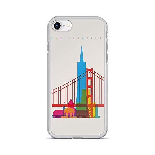 iPhone 7/8 Pure Clear Case Cases Cover Shapes of San Francisco Skyline Art