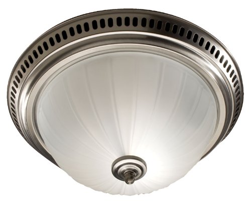 Broan 741SN Decorative Ventilation Fan and Light, 70 CFM 3.5 Sones, Satin Nickel