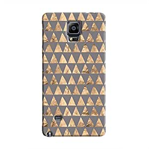 Cover It Up - Brown Grey Triangle Tile Galaxy Note 4 Hard Case