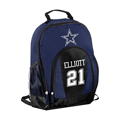FOCO NFL Dallas Cowboys Ezekiel Elliott #21 Primetime Backpack School Gym Bag by FOCO