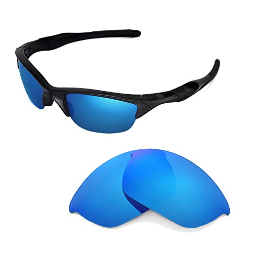 Walleva Replacement Lenses for Oakley Half Jacket 2.0 Sunglasses -Multiple Options Available (Ice Blue Coated - - 2.0 Oakley Half Jacket Lenses