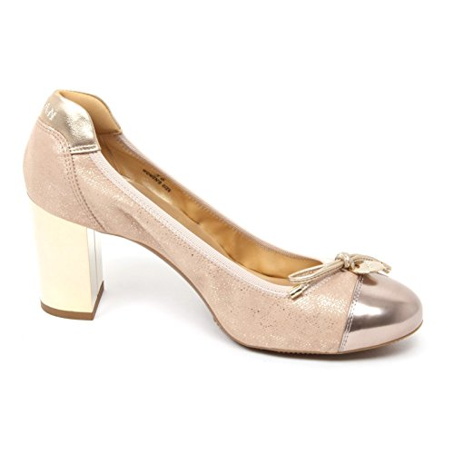 Hogan Scarpa H232 B4796 beige Decollete Woman Scuro Donna Shoe Px4POwv