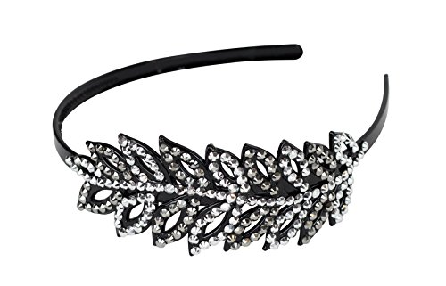 Great Gatsby / Flapper Inspired Handmade Fashion Headband / Hairband w Rhinestones