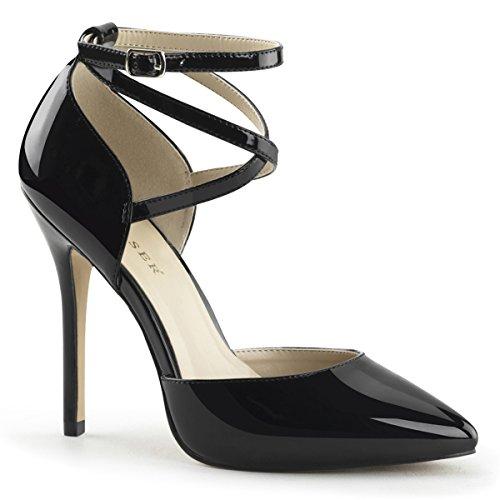 Higher Heels PleaserUSA Womens High Heels Courts Amuse-25 black patent TN0kC6a