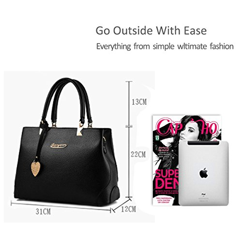 Outdoor NICOLE Crossbody light Fashion Work Bag Purse Tote Handbag Black New Shoulder Ladies Women Grey Casual amp;DORIS Messenger gIxnIqFRr