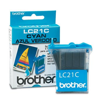 - Brother LC21C - LC21C Ink, 450 Page-Yield, Cyan-BRTLC21C