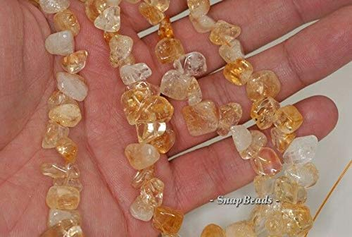 14X12-8X6MM Citrine Quartz Gemstone Pebble Nugget Loose Beads 7