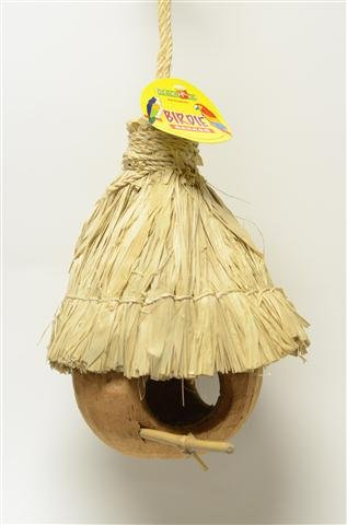 Pets Choice 463-00147 Coco House with Thatch Roof for Bir...