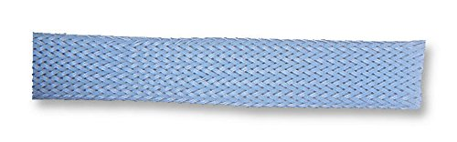 PETGY5BG5 - Sleeving, Braided, 5 mm, PE (Polyester), Grey, 5 m RoHS Compliant: Yes, (Pack of 5) (PETGY5BG5)