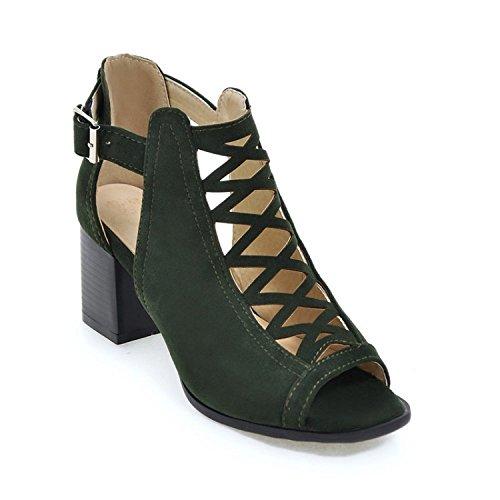 ZXCB Chaussures de Femmes Haut Toe Open Mariage Mariage Strappy Green Parti de de Talon Mesdames Taille Gladiateur Sandales 1x16wqZr