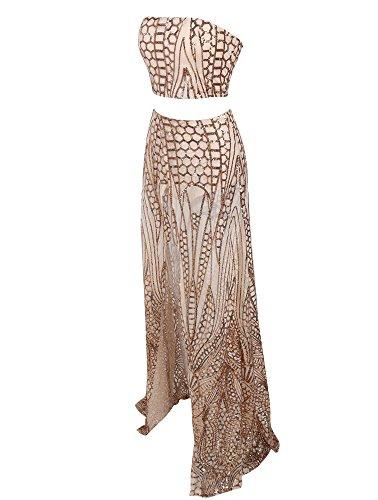 Missord Gold Kleid Damen Missord Damen Cocktail X5x7a5O