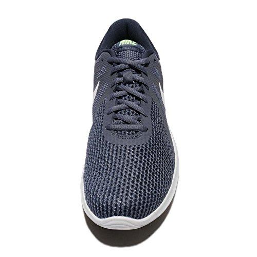 Nike Herren Revolution 4 Laufschuhe Leichtes Carbon / White Thunder Blu