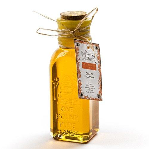 (Raw Orange Blossom Honey by Beekeeper's Daughter in Gift Bottle (1 pound))
