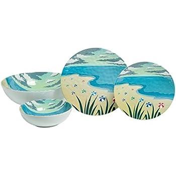 Amazon.com   Galleyware Sand Dollar 19-Piece Melamine Dinnerware Set ...