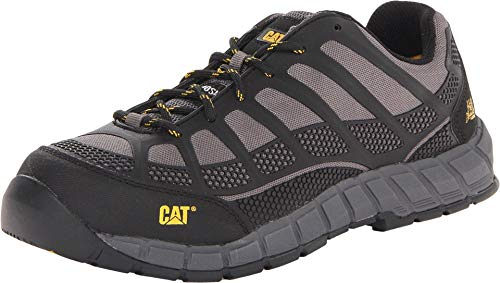 Men's Cat Streamline Composite Toe Slip Resistant Work Shoes Charcoal P90285 8