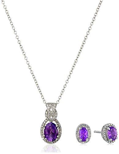 Amethyst Oval Jewelry Box - 5