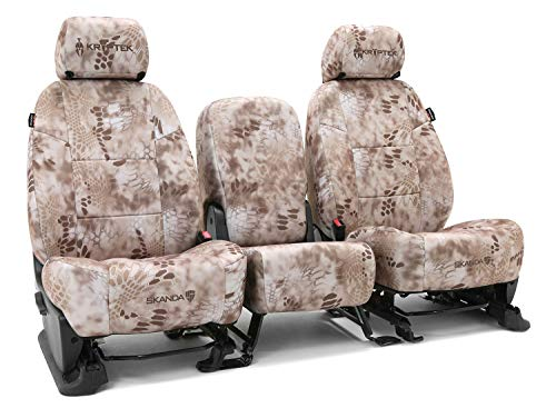 Rear SEAT: ShearComfort Custom Kryptek Neo-Supreme Seat Covers for Honda Civic (1992-1995) in Kryptek Neo-Supreme Nomad for Solid Back and Bottom Bench w/Molded Headrests (Sedan and Coupe)