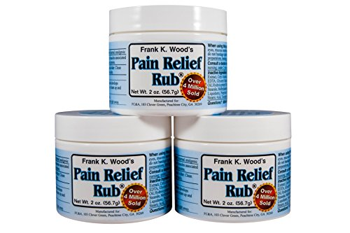 Sore Joint Rub - Pain Relief Rub (3 Jar Multi-Pack) Natural Anti-Inflammatory Cream for Joint Pain, Back Pain, Sore Muscles & Arthritis Pain