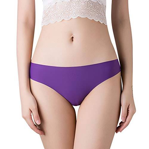 JIUDASG Briefs Underwear Women Thong Bragas Sexy Panties Thong Lace Word Pants Purple