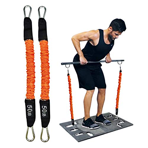 Resistance Bands Portable Home Gym Accessories Full Body Stretch Exercise Tubular Bands to Build Muscle Burn Fat…