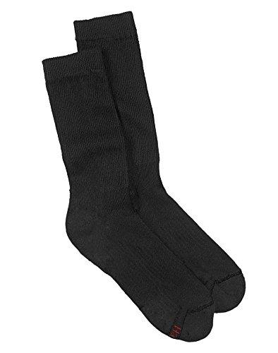 fan products of Hanes Men's FreshIQ ComfortBlend Crew Socks, Black, Sock Size: 10-13/Shoe Size:9-11 (Pack of 6)
