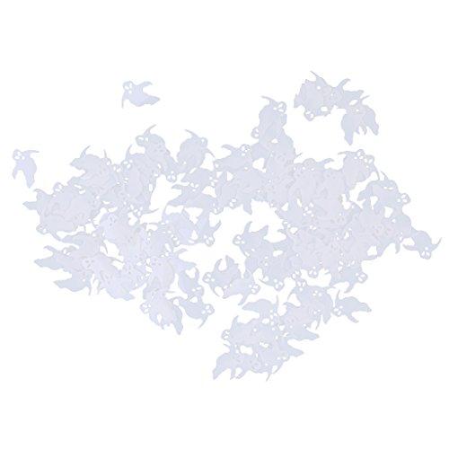 MonkeyJack Horror Ghost Table Confetti Scatter Halloween Carnival Party Decor White 15g