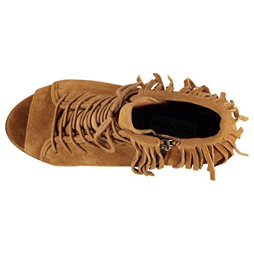 Steve Madden newporte caviglia stivaletti marrone moda donna calzature