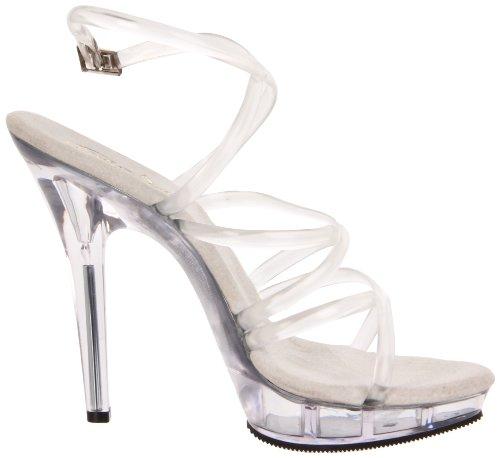 Transparent m Femme Pleaser Sandales Clear Transparent c Lip106 TWfWqY
