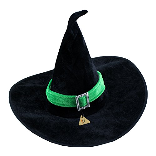 Hat Ultimate Black Witch - IDS Home Halloween Party Witch Hat Costume Accessory Green Velour Halloween Costume for Girl Women Adult