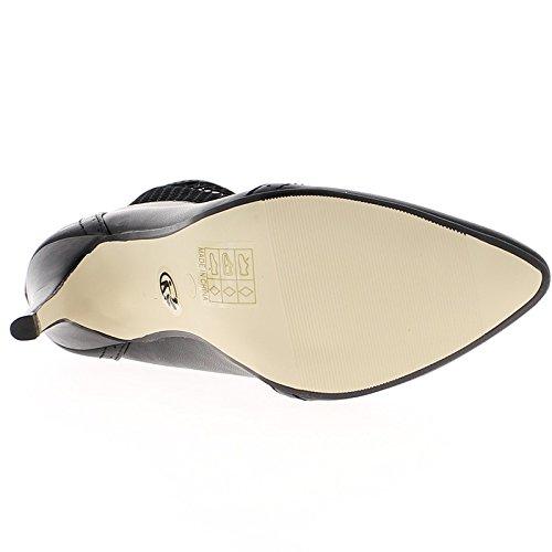 Weiße Spitzen Heel Stiefel 10,5 cm glänzend Leder-Optik