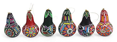 Sanyork Fair Trade Assorted Gourd Christmas Decorative Hanging Ornament From Peru Christmas - Gourds Pear