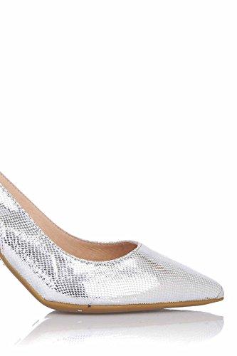 Zapato Miller Vestir es De Piel Plateada Wolfix Patricia En pv5Zqaxw5