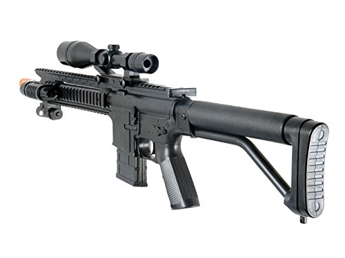 300FPS-P1137-Scout-Sniper-Airsoft-Rifle-Gun-FULL-TACTICAL-SETUP-w-SIDEARM