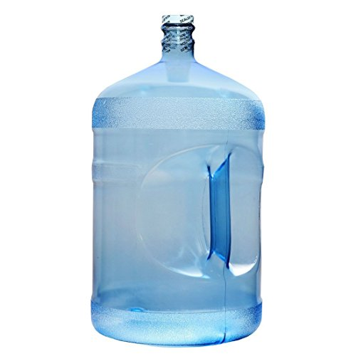 For Your Water 5 Gallon 18.92 Liter Polycarbonate FDA Approved Plastic Reusable Water Bottle Container Jug with Handle (Made in USA) 48MM Screw Cap 10.75