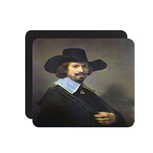 (Portrait Of Martin Looten (Rembrandt) Computer Laptop Mouse Pad)