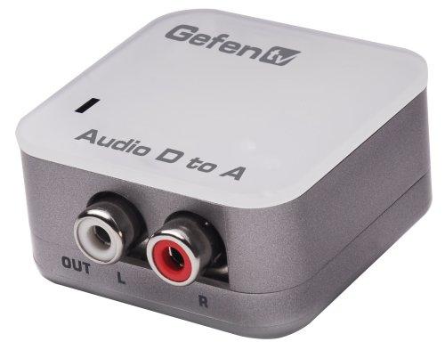 GEFENTV DIGITAL AUDIO TO ANALOG ADAPTER PACKAGE INCLUDES: UNIT; (1) CAB-TLINK-3M