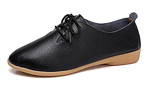 VenusCelia Women's Classic Oxford Flats Shoes(10.5 B(M) US,Black) by VenusCelia