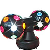 New Large Stage Home Party Dance Night Club Music Deluxe Rainbow Disco Light QUICK SHOP 15.5in x 8in Plastic Globe Light