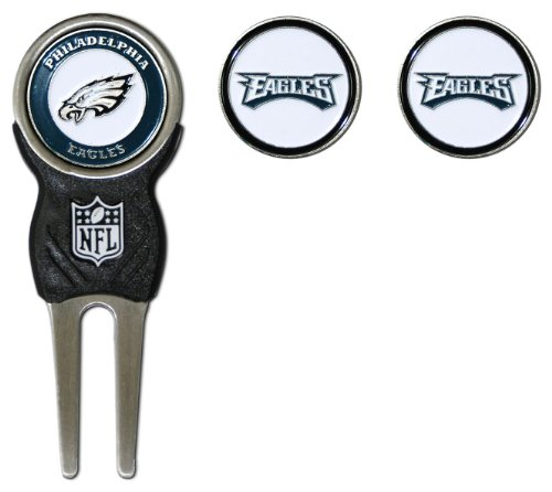 NFL Philadelphia Eagles Divot Tool Pack With 3 Golf Ball Markers