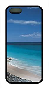 iPhone 5 5S Case Landscapes Mexico sea TPU Custom iPhone 5 5S Case Cover Black