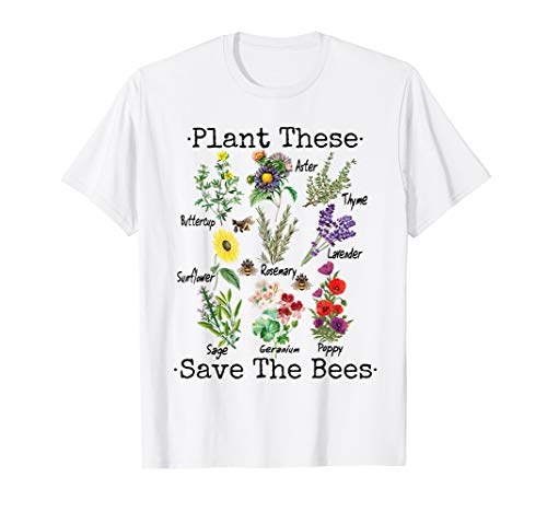 Plant These Save The Bees Shirt Women Yellow Flowers T-Shirt