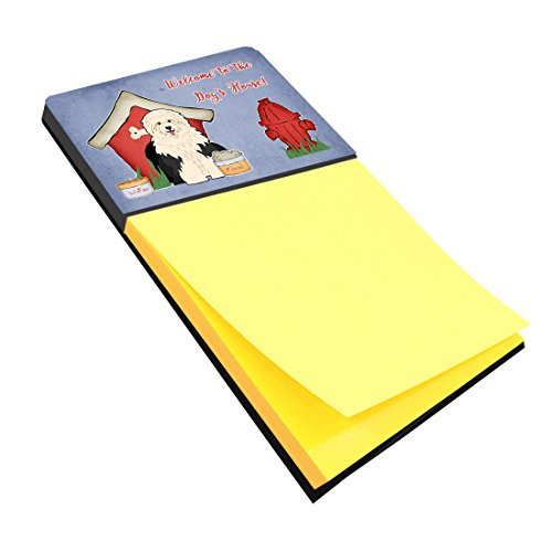 Caroline's Treasures Dog House Collection Old English Sheepdog Sticky Note Holder, Multicolor (BB2850SN) by Caroline's Treasures